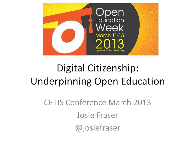 Josie Fraser Cetis Digital Citizenship